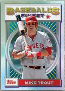 2013 Finest Baseball - Mike Trout Insert